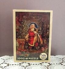 Cobble Hill 1000 Piece Puzzle 'Christmas Presence' Santa Myles Pinkney NIB Train