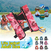 150N PFD Adult Automatic Inflatable Life Jacket Inflation Survival Aid Vest!