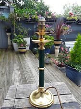 VINTAGE QUALITY BRASSWARE GREEN TABLE LAMP BASE