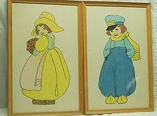 Old Vintage Radlein Art Shop Frames w Holland Dutch Boy & Girl Signed Tooker MCM
