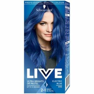 Schwarzkopf LIVE ULTRA BRIGHTS Pastel 2in1 Semi-Permanent Hair 095 Electric Blue