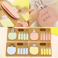 Korean Cute Animals Sticky Notes Sticker Bookmarker Memo Pad Home Office Class