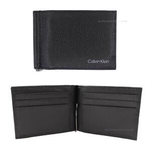 Calvin Klein Men's wallet mod. K50K507405 black with leather money clip