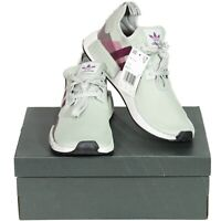 Adidas Boost Womens Running Shoes Sz 10.5 Ash Silver Purple Beauty EE5177 NMD R1