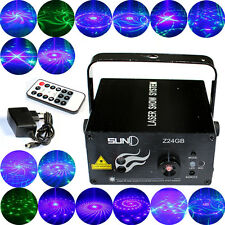 SUNY 3 Lens 24 Patterns LED Stage Lighting GB Laser Projector DJ Disco KTV Light