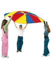 Pacific playtents 6' parachute with handles and bag primary colors