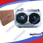 Aluminum Radiator for Holden Torana HQ HJ HX HZ HK Kingswood V8+Alloy Shroud+Fan