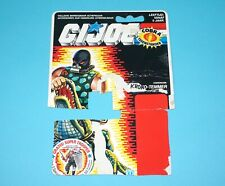 1987 GI JOE CROC MASTER v1 FILE CARD FILECARD CUT CARDBACK NL DUTCH HASBRO
