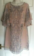 Next dress, pink and grey, size 12, BNWT, rrp £38