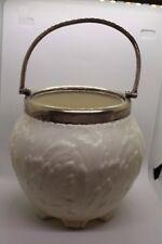 Victorian White  Porcelain Biscuit Jar