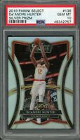 De'Andre Hunter Hawks 2019 Panini Select Silver Prizm Rookie Card #136 PSA 10