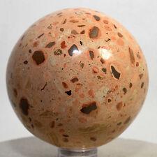"2.2"" Leopardite Jasper Sphere Natural Leopard Skin Crystal Polished Ball - PERU"
