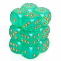 Borealis: 16Mm D6 Light Green/Gold Luminary Dice Block (12 D (US IMPORT) ACC NEW
