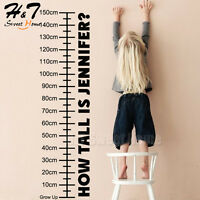 How Tall Is Custom Name Height Growth Chart Vinyl Wall Sticker Decal Kids Room
