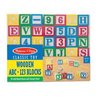 MELISSA DOUG WOODEN ABC/123 BLOCKS