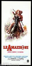 LE AMAZZONI LOCANDINA CINEMA ALFONSO BRESCIA SEXY ITALIA 1973 PLAYBILL POSTER
