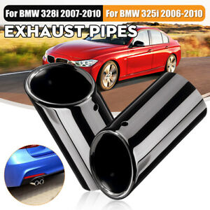 2x Tail Muffer Exhaust Tip Pipe For BMW E90 E92 325i 328i 3 Series 06-10 ^