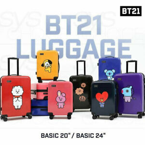 BTS BT21 Official Authentic Goods Luggage Basic Ver 20 or 24inch + Express