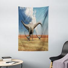 Jurassic Tapestry Diplodocus Dinasours Print Wall Hanging Decor