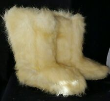 Women's Tall mammoth Eskimo Mukluk yeti winter blond fur boots sz 8