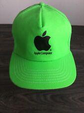 Apple Computer Snapback Hat 80s Vtg Computer Macintosh Logo Neon Steve Jobs USA