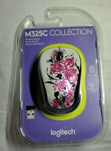 New Sealed Logitech Wireless Mouse M325C Compact Size (Floral Spiral)