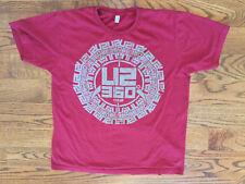 Size XL Men's American Apparel U2 360 Degree Tour Short Sleeve Maroon T-Shirt