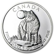 Canadian Wildlife Series Wolf 2011 1 oz .9999 Silver Coin