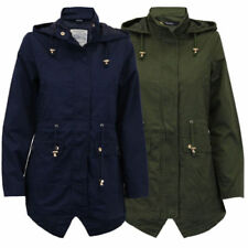 Cotton Blend Hood Military Coats & Jackets for Women