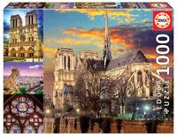 Educa Notre Dame Paris Collage 1000 pc Jigsaw Puzzle (pl)