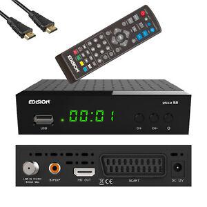 TIVUSAT Receiver Edision Picco S2 HD DVB-S2 vorsortiert Tivu-Sat Scart schwarz
