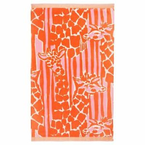 Lilly Pulitzer for Target Giraffing Me Crazy Orange Pink Beach Pool Towel NEW