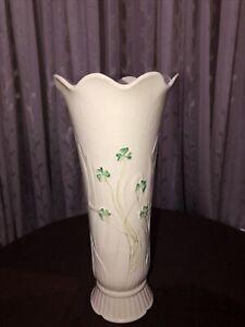 "Elegant Belleek 10"" Woodland Vase 8th Mark 1993-1997"