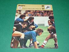 XV FRANCE-NOUVELLE ZELANDE ALL BLACKS 18-13 1977 FOUROUX FICHE RUGBY
