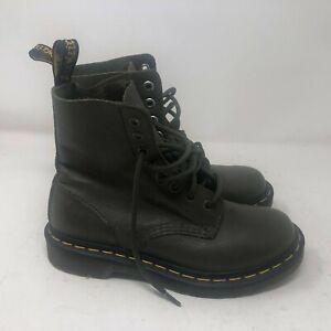 Doc Dr Martens 1460 Pascal Wanama Olive GREEN Boots Women's Size US 5 EU 38