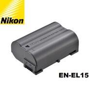 New Genuine OEM Nikon D600 D610 D750 D7100 D7200 D800 D810 V1 EN-EL15 Battery