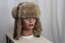 Mad Bomber Rabbit Fur Camouflage Trapper Hat Cap M Medium EUC