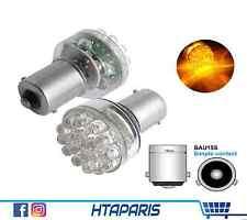 2 Ampoules BAu15s PY21W Phare avant arriere CLIGNOTANT Indicator ORANGE 24 LED