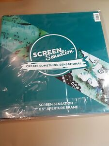 Screen Sensation 7 X 5 Inch Aperture Frame.  Teal