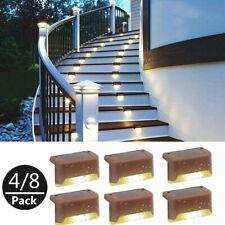 Solar LED Deck Lichter Outdoor Path Garden Pathway Schritt Lampe Treppen E5B4