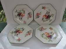 Four Johnson Brothers Fresh Fruit Octagonal  Salad Plates Made in England