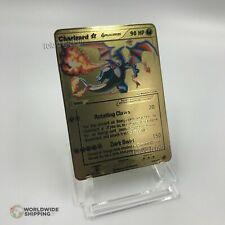 Carte Pokemon Gold Mega Dracaufeu / Charizard Metal Card Fan Made / GX / EX