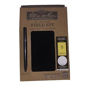 Rite in the Rain Black Cover Yellow Field Book   Black Pen   #374B-Kit
