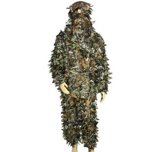 Ghillie Suit w/ carry bag- 2pc 3D Hunting Shooting Sniper Pigeon Paintball Camo