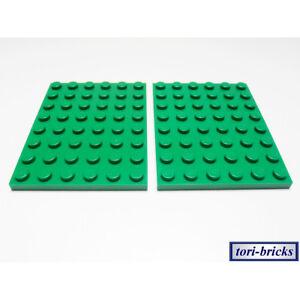Lego Platte / Bauplatte 6x8 grün 2 Stück »NEU« # 3036