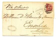 1869 GB 3d rose plate 5 on cover from Manchester to Enschede Holland