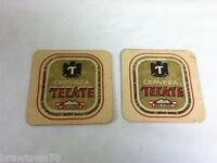 Beer coaster bar coasters 2 cerveza Tecate No. 19097 b import Mexico imports AN1