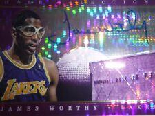 James Worthy Panini Prizm Hall Selections Purple Auto Card