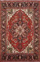 Geometric Heriz Serapi Oriental Area Rug Vegetable Dye Hand-knotted 8x10 Carpet