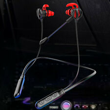 Bluetooth Headphone with Mic Portable Stereo Neck-Mounted for Running Gamers